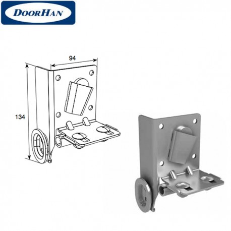 DH25247/RAL9003 DoorHan Нижний угловой кронштейн регулируемый (пара)