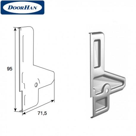 DH25161/BP DoorHan Крышка профиля усилителя верхнего без покрытия