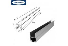 DHSW-00060/M DOORHAN Профиль алюм. Нижний несущий металлик (п/м)