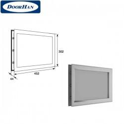 """DH85626 DoorHan Окно акриловое 452х302 белое для панелей со структурой """"филенка"""""""