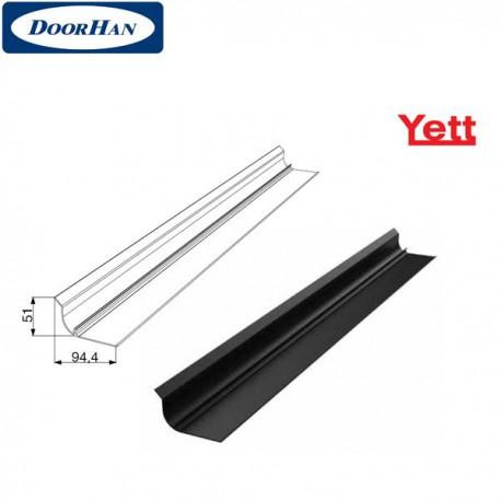 Y182 DoorHan Защита вертикальной направляющей удлиненная для ворот YETT (погонный метр)