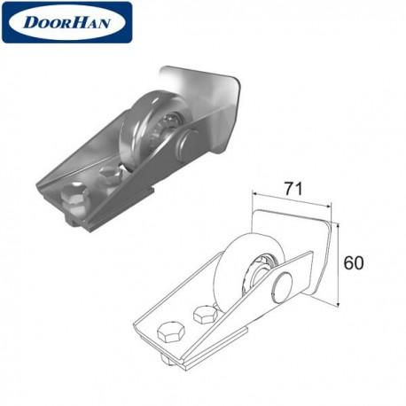 DHS20330 Ролик концевой в сборе для балки 71х60х3,5 DHS203060