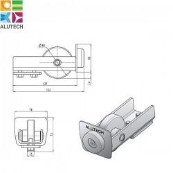 SG.01.300 Alutech Ролик концевой для шины SG.01.002, SG.01.001 (шт)