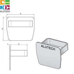 SG.01.600 Alutech Заглушка для направляющей шины SG.01.002, SG.01.001 (шт)