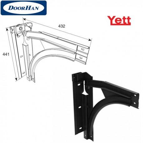 Y207M DoorHan Изгиб стальной для ролика ф38 СВАРНОЙ с П-образным кронштейном модернезированный (пара)