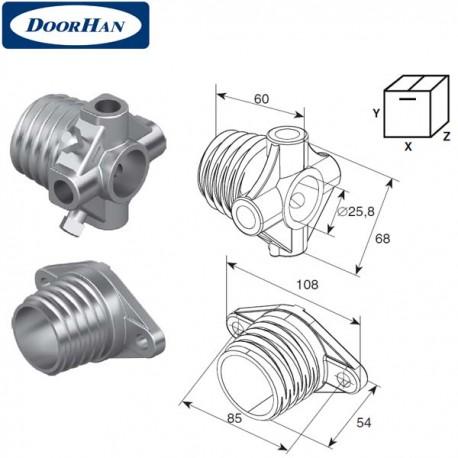DH1001 Окончание пружины М 45 на вал ф 1 (пара)