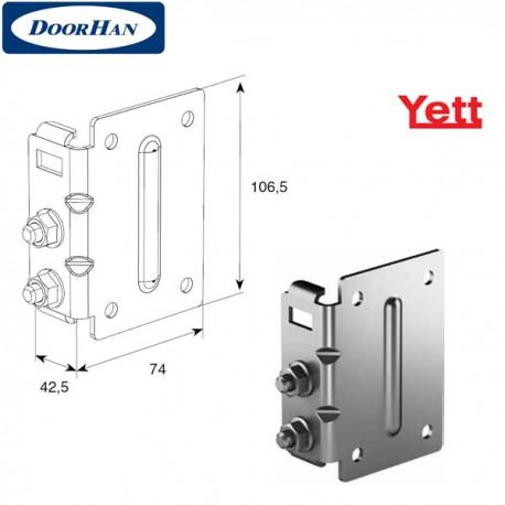 Y312N/RAL9003 DoorHan Верхняя опора регулируемая для ролика 38мм