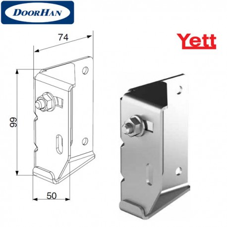 Y032N/RAL9003 DoorHan Верхняя опора регулируемая для ролика 38мм (пара)