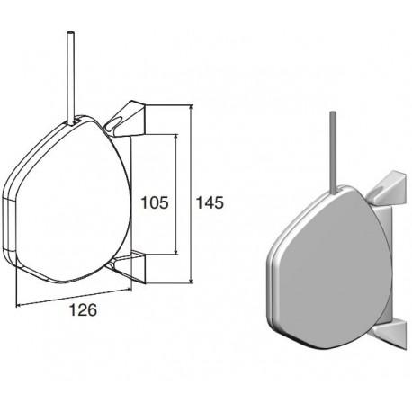 RHS01 DoorHan Укладчик для шнура инерционный RHS01 бел.