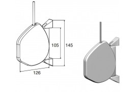 RHS02 DoorHan Укладчик для шнура инерционный RHS01 кор.
