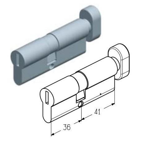 C-36/41M  Цилиндровый механизм 36/41 мм (шт.) Alutech