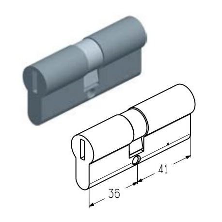 C-36/41  Цилиндровый механизм 36/41мм (шт.) Alutech