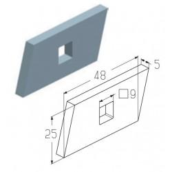 CP0506  Пластина закладная (шт.) Alutech