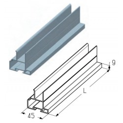 PRD01-5290  Профиль воротный, цвет - A00-D6 (м) Alutech