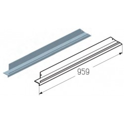 WD403R.203  Обрамление верха калитки, цвет - RAL8019 (шт.) Alutech