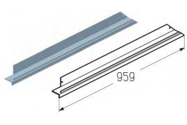 WD403L.203  Обрамление верха калитки, цвет - RAL8019 (шт.) Alutech