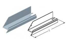 WD403L.202  Обрамление калитки верхнее, цвет - RAL8019 (шт.) Alutech