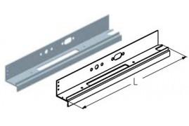 WD250L.202  Обрамление калитки среднее, цвет - RAL8019 (шт.) Alutech