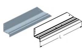 WD152L.202  Обрамление калитки нижнее, цвет - RAL8019 (шт.) Alutech