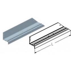 WD162L.202  Обрамление калитки нижнее, цвет - RAL8019 (шт.) Alutech