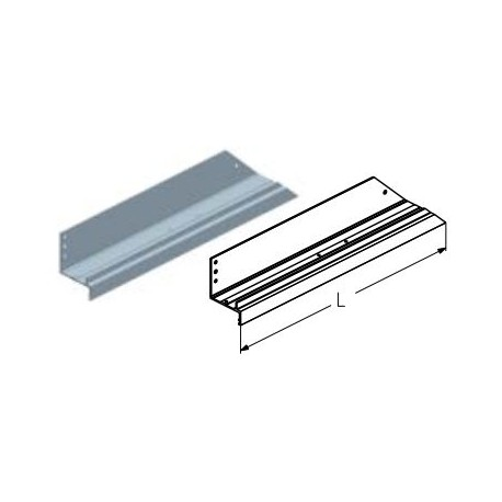 WD161L.202  Обрамление калитки нижнее, цвет - RAL8019 (шт.) Alutech