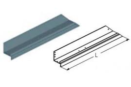 WD-163L.202  Обрамление калитки нижнее, цвет - RAL8019 (шт.) Alutech