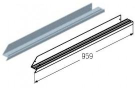 WD151R.203  Обрамление низа калитки, цвет - A00-D6 (шт.) Alutech