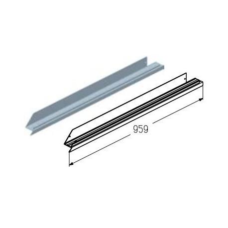 WD151L.203  Обрамление низа калитки, цвет - RAL8019 (шт.) Alutech