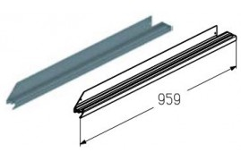 WD-153L.203  Обрамление низа калитки, цвет - RAL8019 (шт.) Alutech