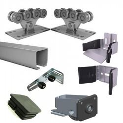 SGN.01  Система роликов и направляющих для ворот весом до 450 кг шина 6 м (шт) Alutech