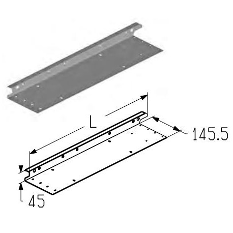 EC-12.500L  Накладка боковая (шт.) Alutech