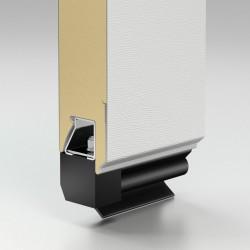 Панель в сборе нижняя с алюминиевым профилем и уплотнителем резиновым, 625 мм толщина 45 мм Alutech (4,2 м. пог.)
