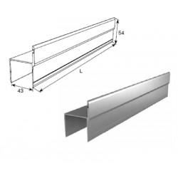 """80030/M DoorHan Алюминиевый профиль для калитки """"Ц""""-образный металлик (погонный метр)"""