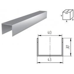 """80043/M DOORHAN Алюминиевый профиль для калитки """"П""""-образный металлик (п/м)"""