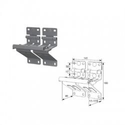 N25234-33R/RAL9003 DOORHAN Боковая опора сдвоенная с усиленным удлиненным держателем ролика