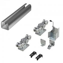 DHS20260 DOORHAN Система роликов и направляющих для балки х/к 138х144х6 L-8000мм (вес ворот до 1200 кг)