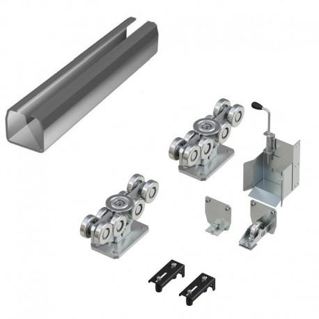 DHS20260 Система роликов и направляющих для балки х/к 138х144х6 L-8000мм (вес ворот до 1200 кг)