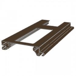 RHE78G02 DoorHan Профиль экструдированный RHE78G02 решеточный коричневый (п/м)