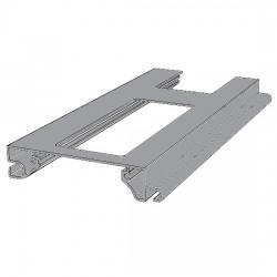 RHE78G08 DoorHan Профиль экструдированный RHE78G08 решеточный серебристый (п/м)