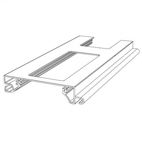 RHE78G01 DoorHan Профиль экструдированный RHE78G01 решеточный белый (п/м)