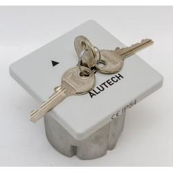 ALUTECH SUPF выключатель замковый (ключ-кнопка) для встроенного монтажа