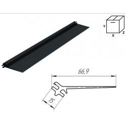 UP-40 DOORHAN Уплотнитель верхний для профиля стального (п/м)