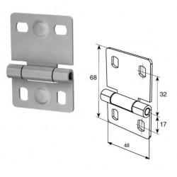 25233-2/RAL9003 DOORHAN Петля внутренняя малая для панелей стандартного типа  (шт.)