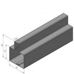 Т-образный профиль для уличных ворот 60x80 DoorHan 6000 мм