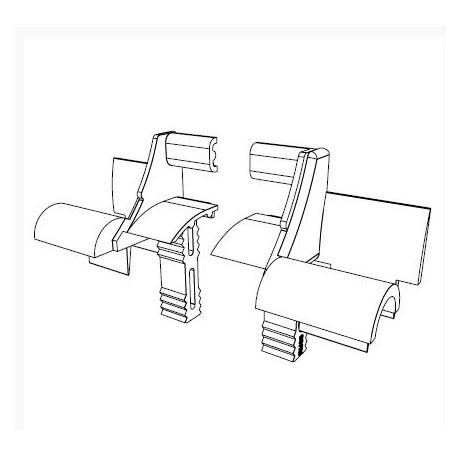 RU6501 DoorHan Устройство направляющее RU6501 белое (пара)