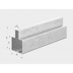 Т-образный профиль для уличных ворот 60x80 оцинкованный DoorHan 6000 мм