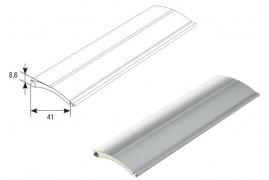 RH41N01 DoorHan Профиль с мягким пенным наполнителем RH41N01 белый (п/м)
