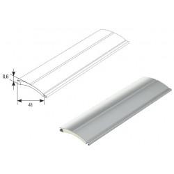 RH41N03 DoorHan Профиль с мягким пенным наполнителем RH41N03 серый (п/м)