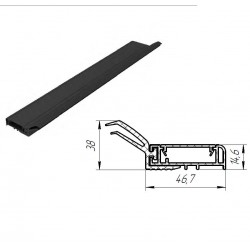 SPV078-3 DoorHan Внешний уплотнитель секционных ворот