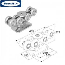 DHS20220 Опора роликовая в сборе для балки 138х144х6